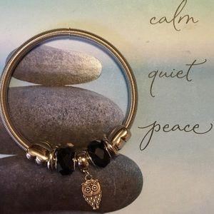 2/$15, NWOT Owl Charm Bracelet